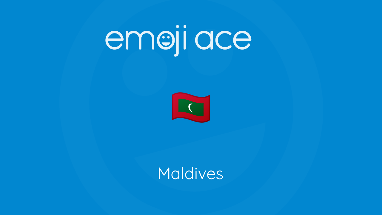 Maldives Emoji Ace